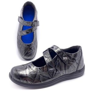 Drew Orchid Grey Marble Patent Mary Janes 7.5W